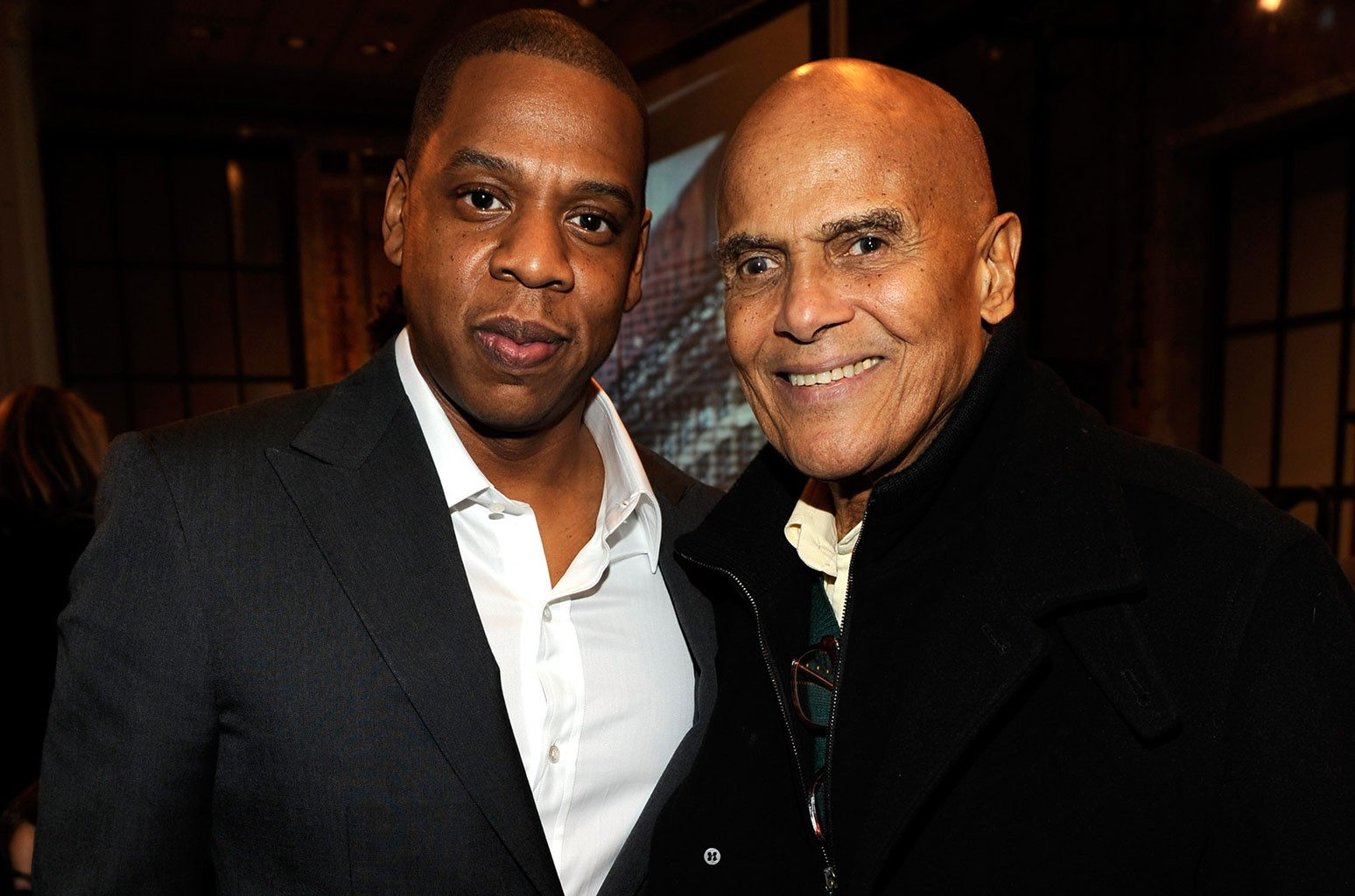 Jay-Z and Harry Belafonte