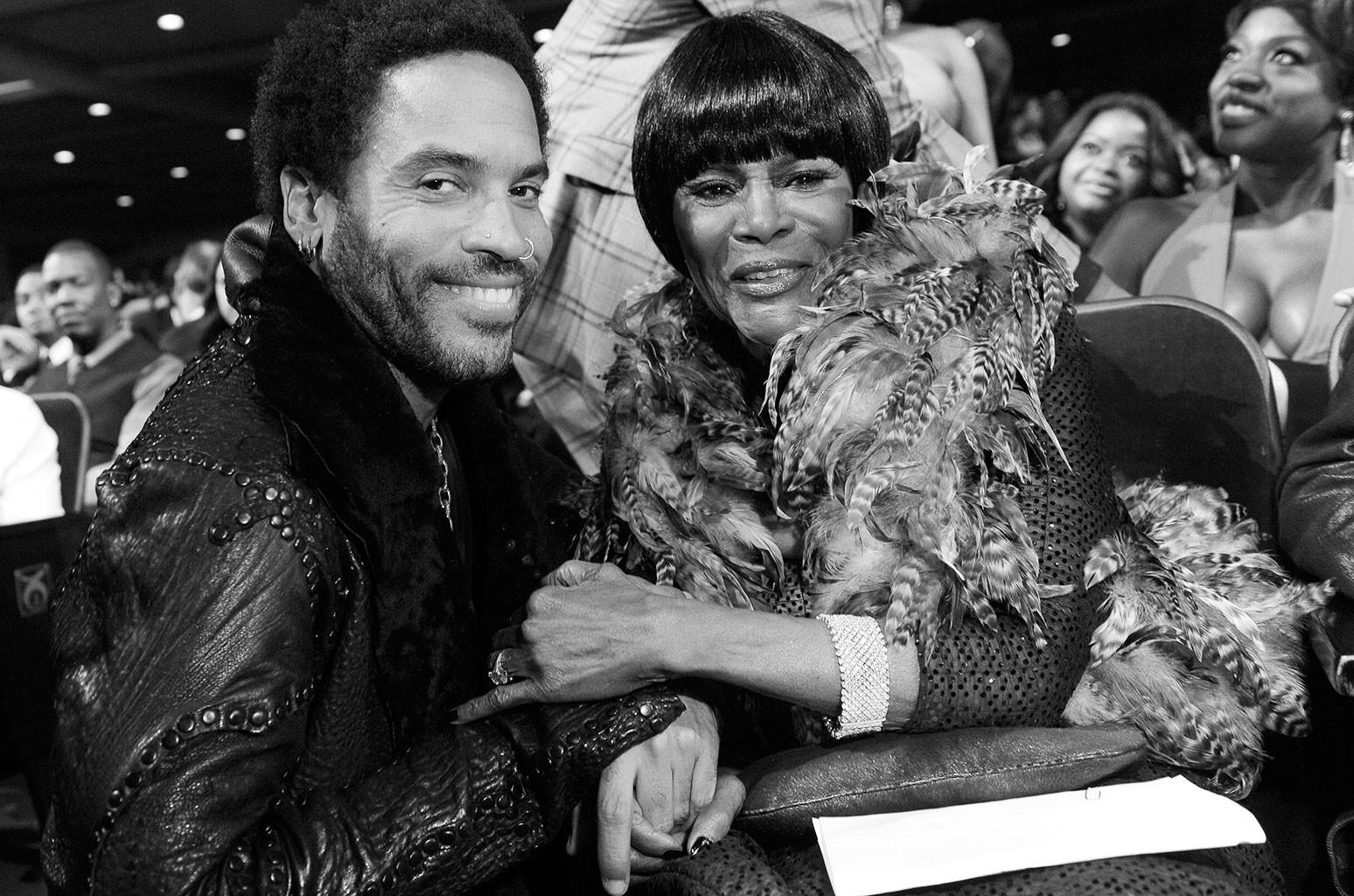 Lenny Kravitz and Cicely Tyson