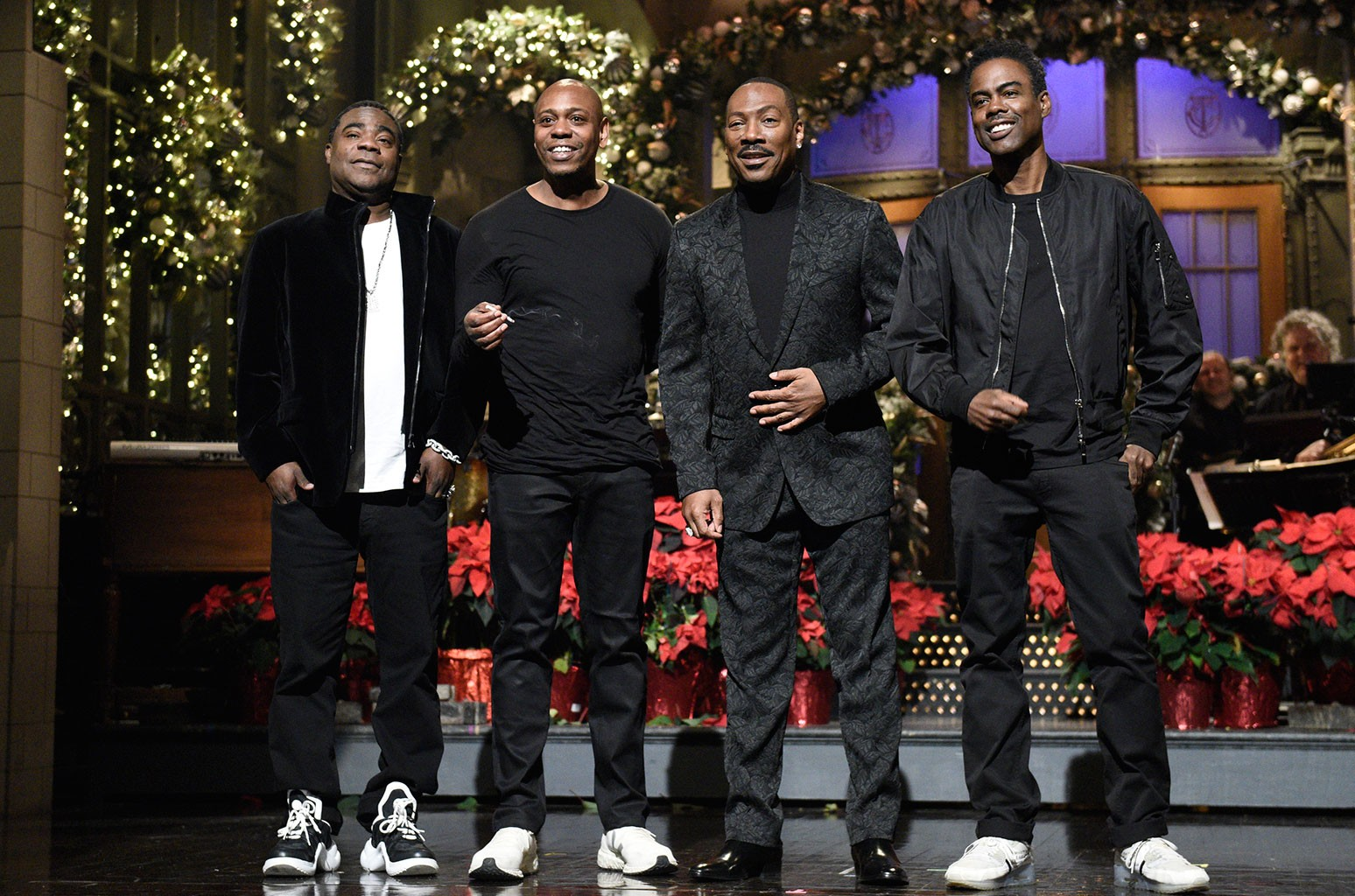 Tracy Morgan, Dave Chappelle, host Eddie Murphy, and Chris Rock