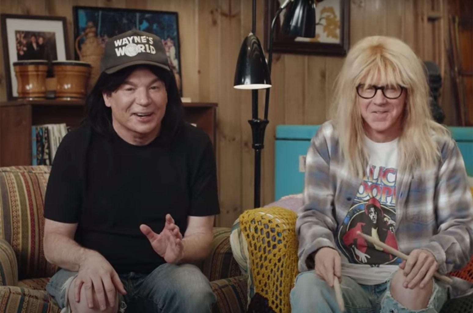 Швинг!  Уэйн и Гарт воссоединяются для рекламы Суперкубка 2021 года: смотреть
