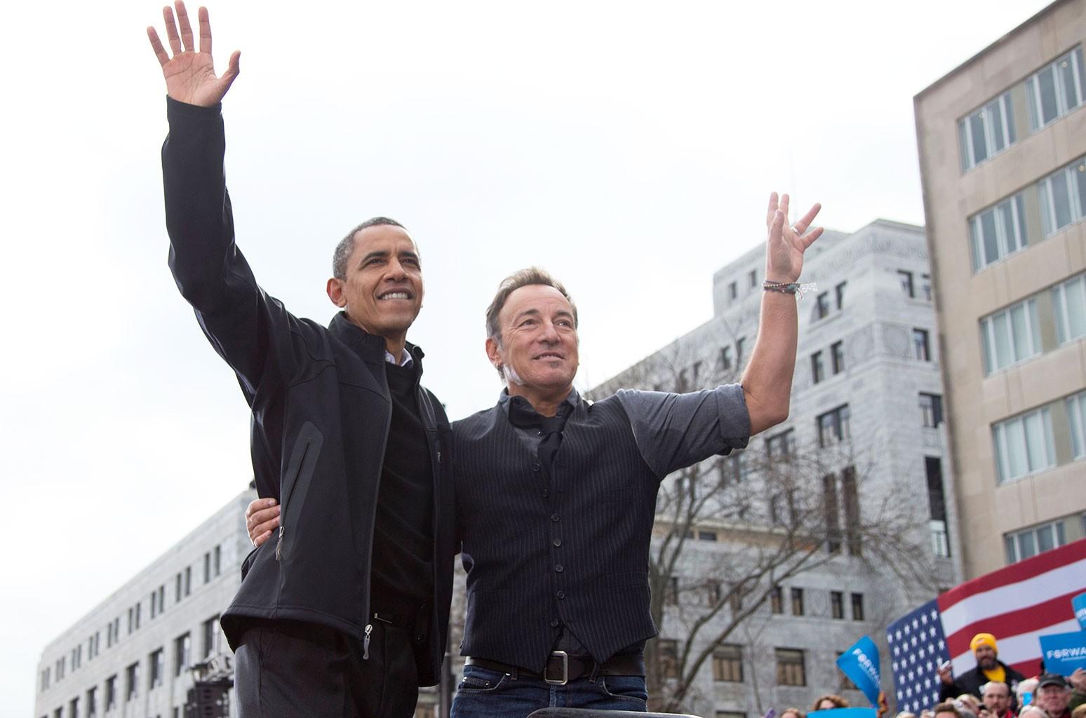 В плейлисте Барака Обамы для душа, как вы уже догадались, много песен Брюса Спрингстина