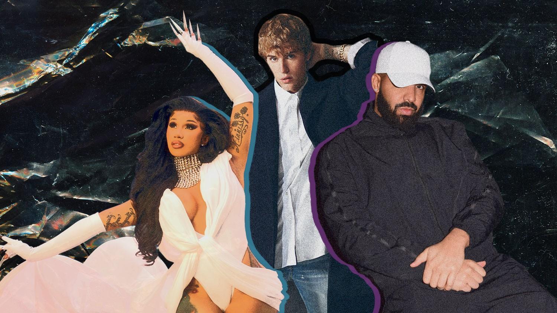 Cardi B, Justin Bieber, Drake