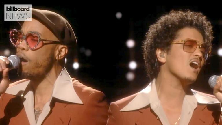 Bruno Mars & Anderson .Paak, as Silk Sonic, Top Billboard Hot 100 With 'Leave the Door Open'