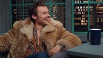 Harry Styles is in the Hot Seat For Gucci's Beloved Campaign With James Corden | Billboard News