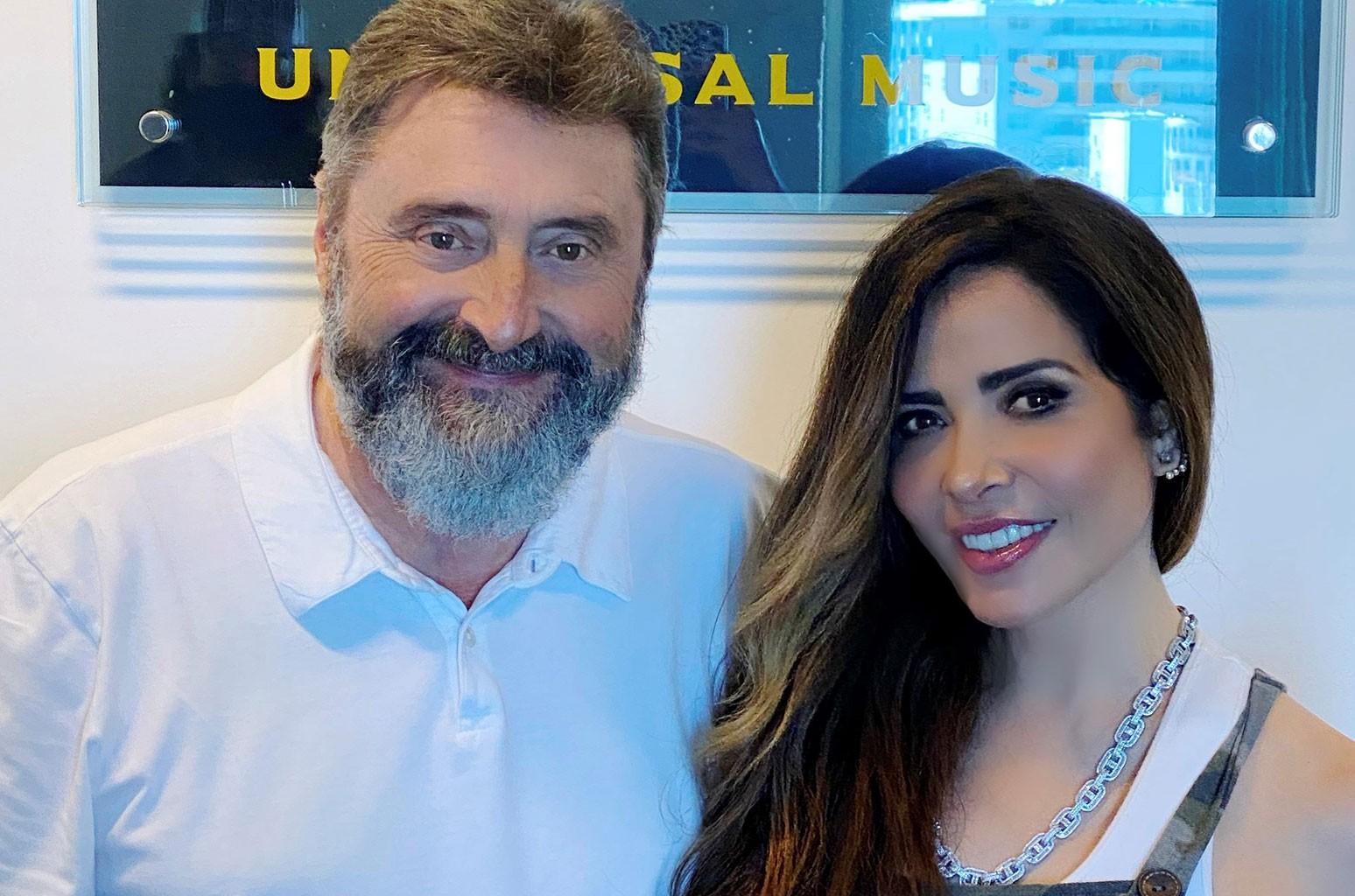 Jesus Lopez and Gloria Trevi