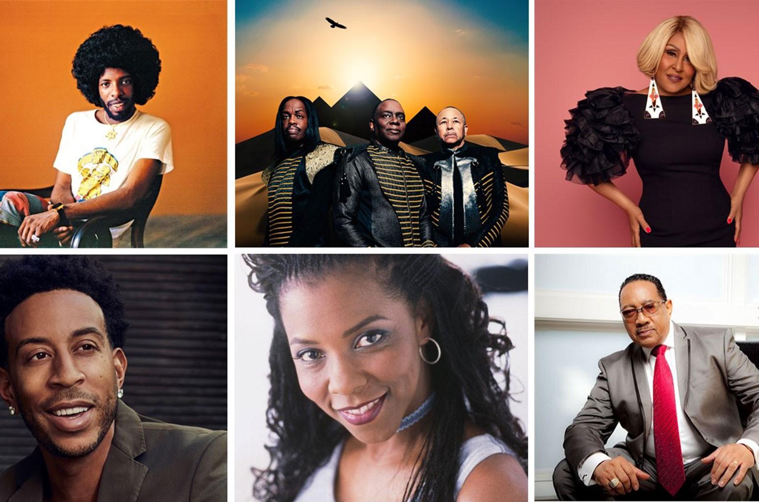 Sly Stone, Earth, Wind & Fire, Darlene Love, Ludacris, Patrice Rushen and Dr. Bobby Jones