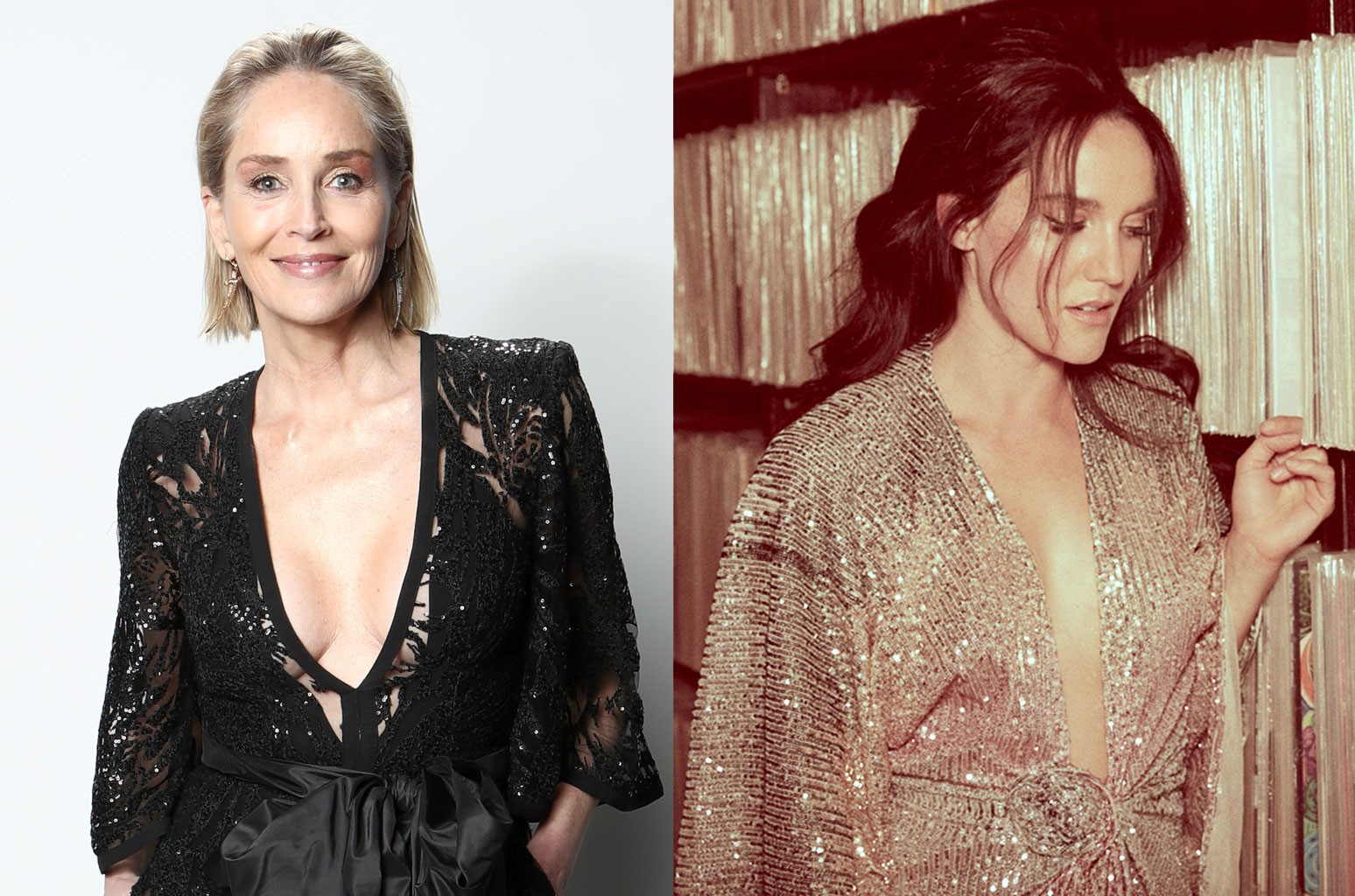 Sharon Stone and Hayley Sales