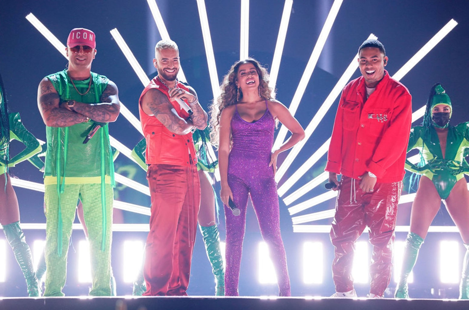 Wisin, Maluma, Anitta, Myke Towers
