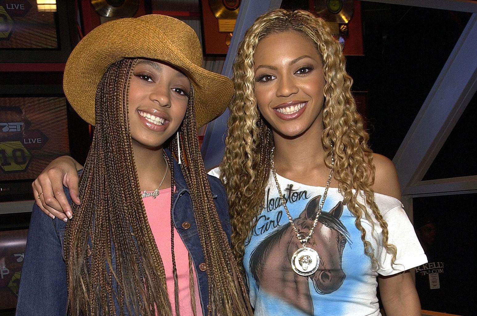 Beyonce Knowles & Solange Knowles