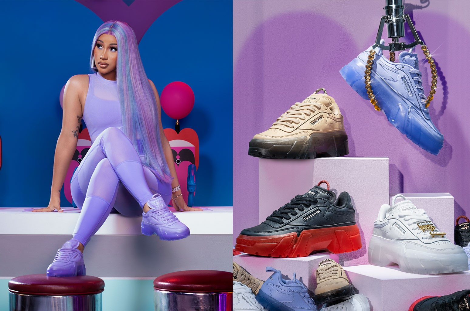 Cardi B x Reebok Club C Sneaker