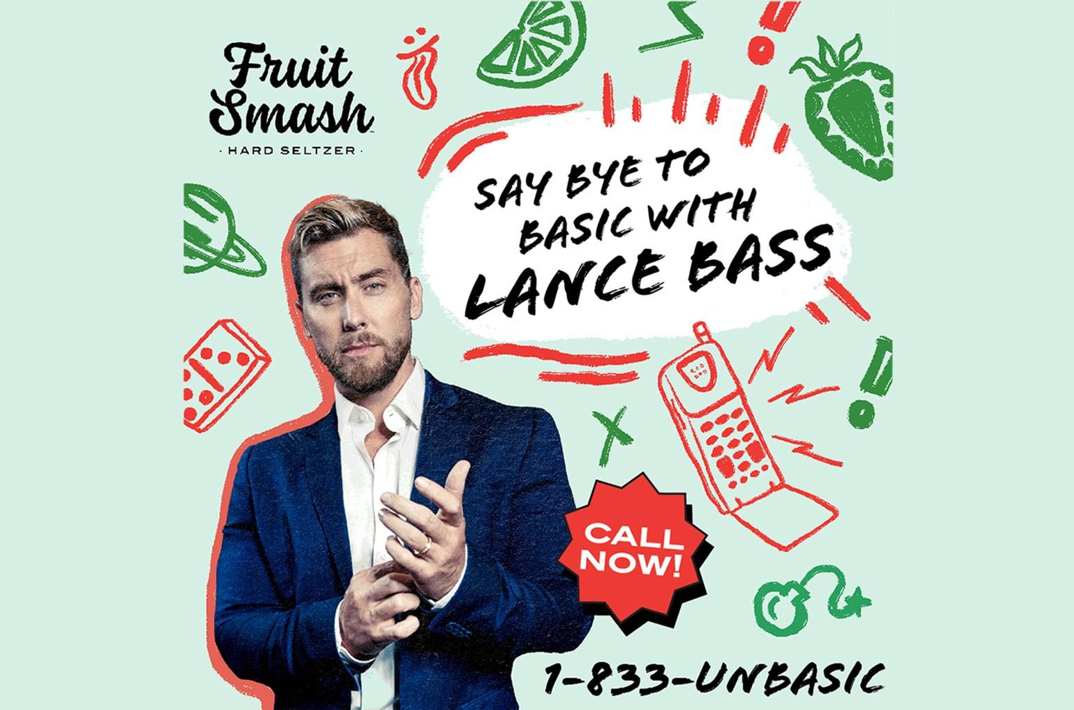 Lance Bass Is Saying 'Bye to Basic' With New Fruit Smash Hard Seltzer Hotline