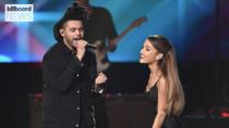 The Weeknd and Ariana Grande's 'Save Your Tears' Hits No. 1 on Billboard Hot 100 | Billboard News