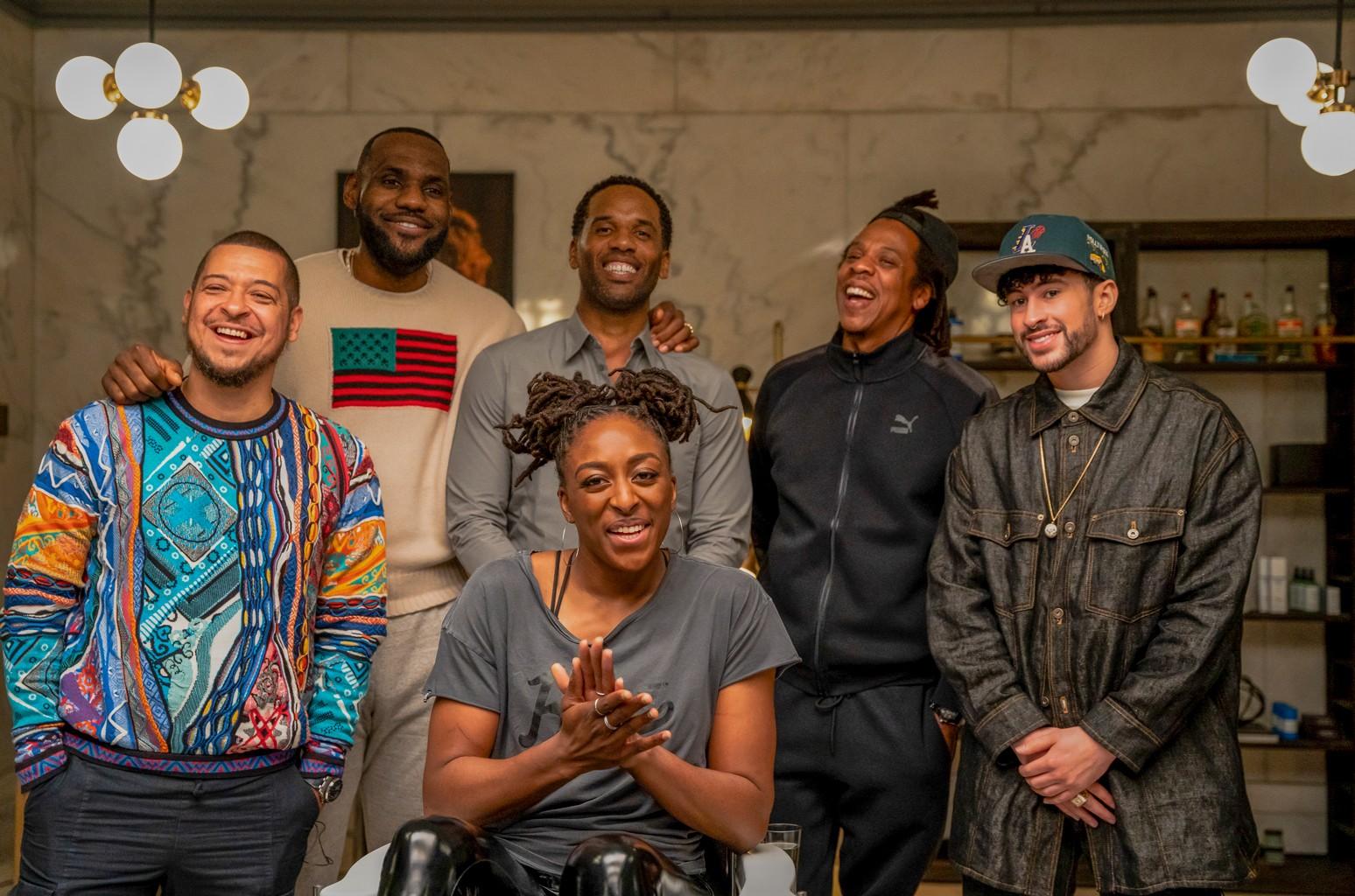 Paul Rivera, LeBron James, Maverick Carter, Nneka Ogwumike, Jay-Z, Bad Bunny