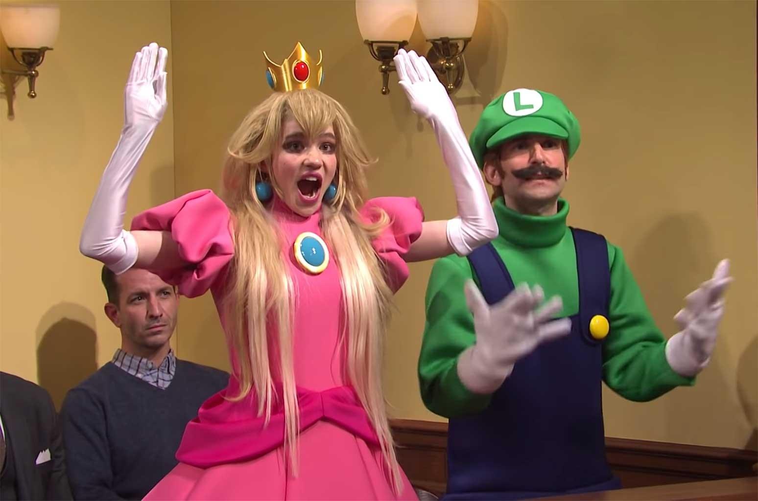Grimes Nails it as Princess Peach Alongside Elon Musk as Wario in 'SNL' Super Mario Murder Trial Skit: Watch
