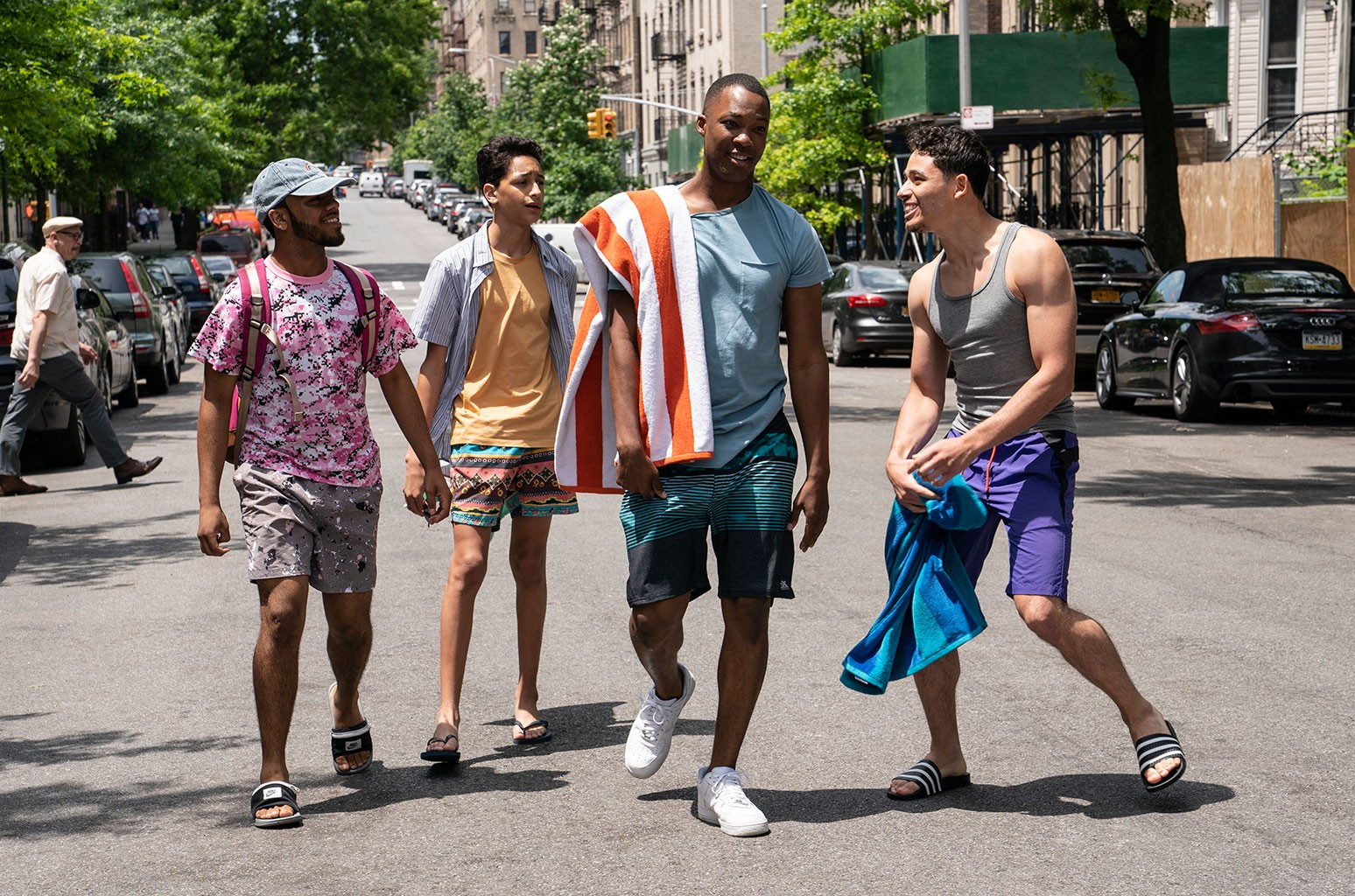Gregory Diaz IV, Corey Hawkins, and Anthony Ramos in the heights