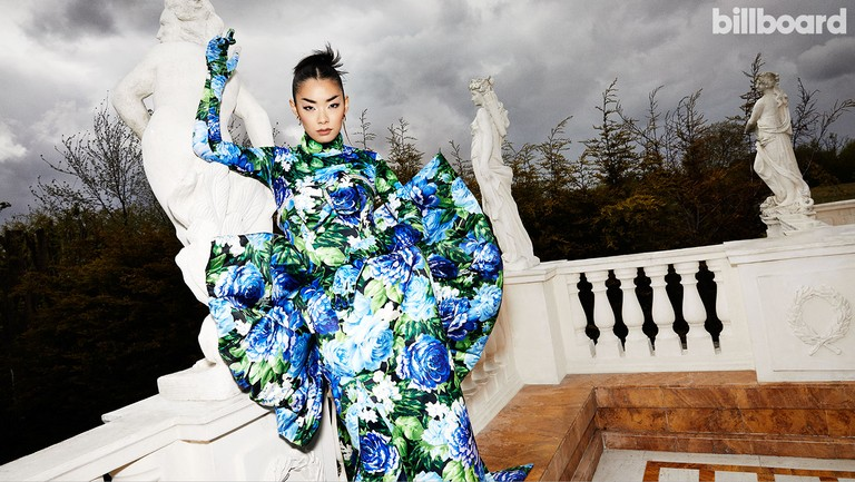 <p>Rina Sawayama photographed by Zoe McConnell on May10, 2021 at The White House London. </p><p>Styling by Jordan Kelsey. Hair by Tomomi Roppongi at Saint Luke Artists. Makeup by Ana Takahashi. Manicure by Lauren Michelle Pires. On-site production by Joel Gilgallon at JOON.</p><p>Andrea Brocca top and shoes, Wolford bottoms, FALKE tights, Harris Reed headpiece, Mugler earrings and bracelets, Pebble London rings.</p>