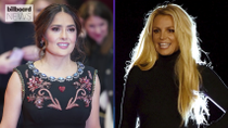 Salma Hayek Dances to Britney Spears' 'Baby One More Time' in New Video | Billboard News