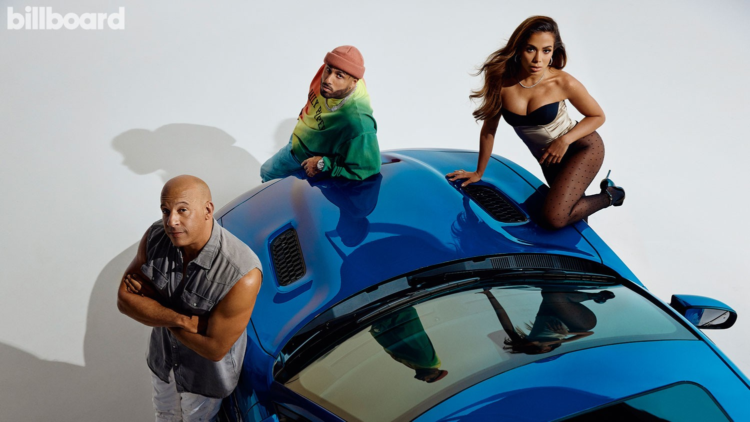 Vin Diesel, Nicky Jam and Anitta photographed by Austin Hargrave