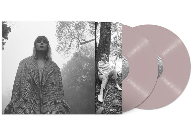 One of eight limited-edition colored variants of Taylor Swift's eighth studio album folklore