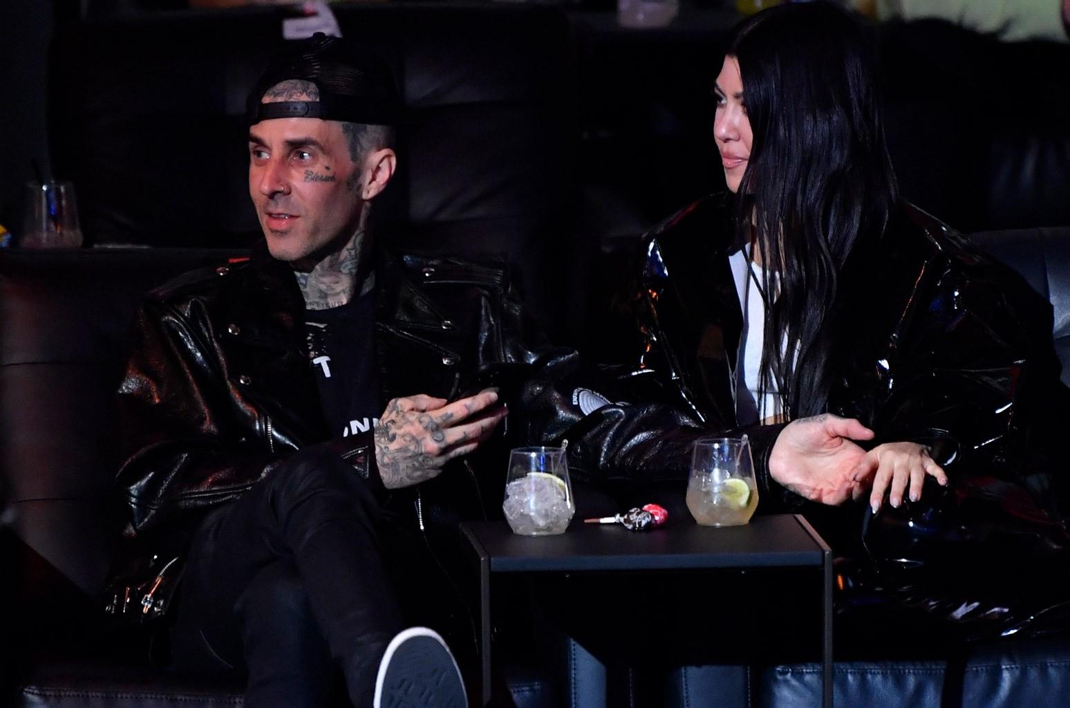 Travis Barker and Kourtney Kardashian