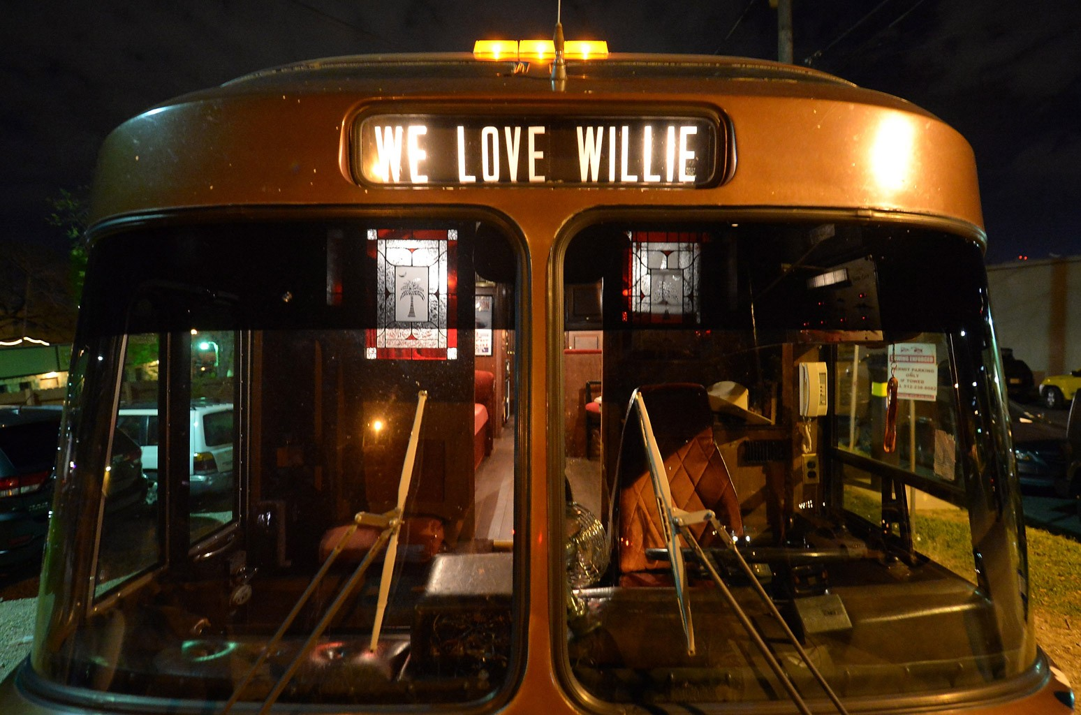 Willie Nelson's tour bus