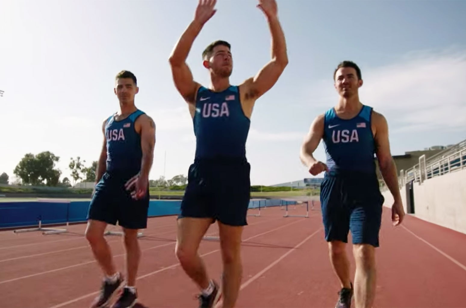 Jonas Brothers Go For Gold in 'Olympic Dreams' Teasers