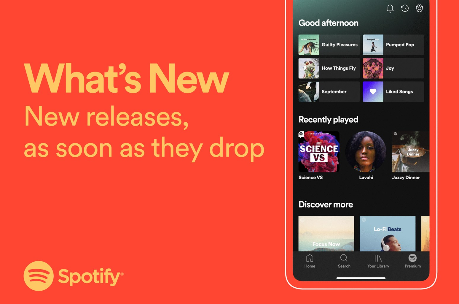 """Spotify """"What's New"""""""