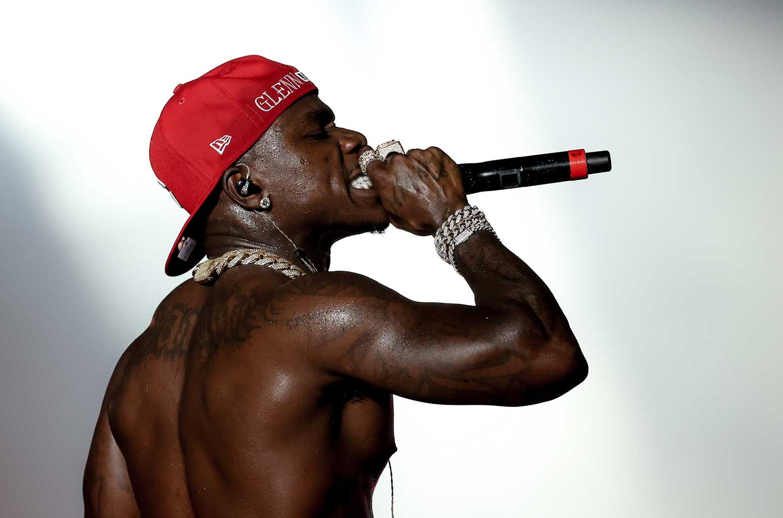 DaBaby performing at Rolling Loud 2021