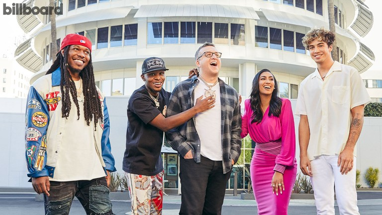 <p>From left, CapellaGrey, Toosii, JeffVaughn, QueenNaija and SurfMesa photographed by ChristopherPatey on Aug.5 at CapitolRecords in Los Angeles.</p>