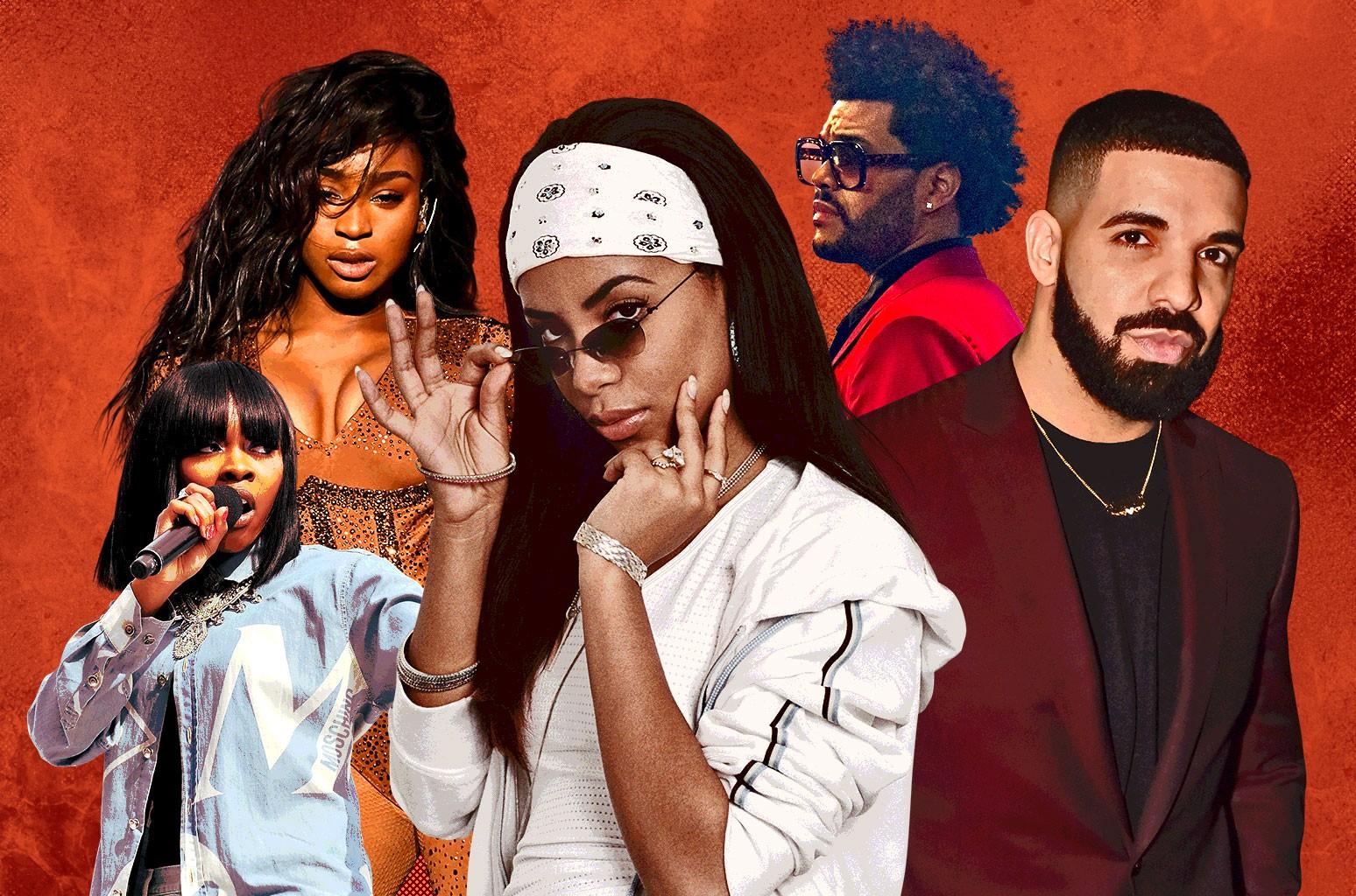 Tink, Normani, Aaliyah, The Weeknd, Drake