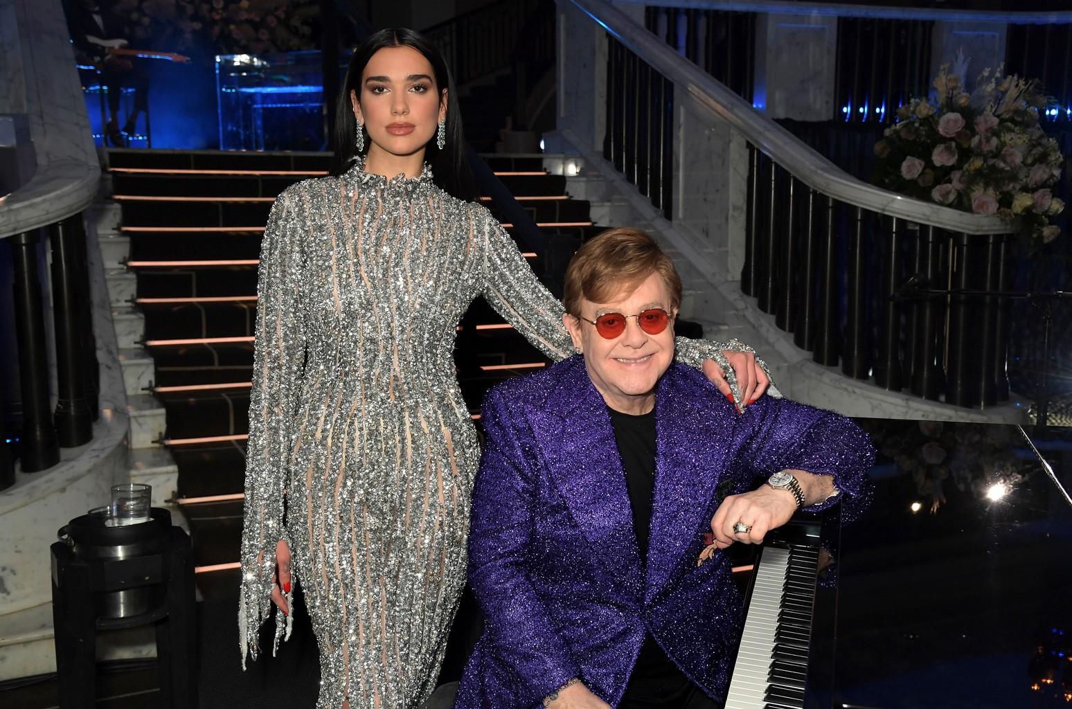 Dua Lipa and Sir Elton John