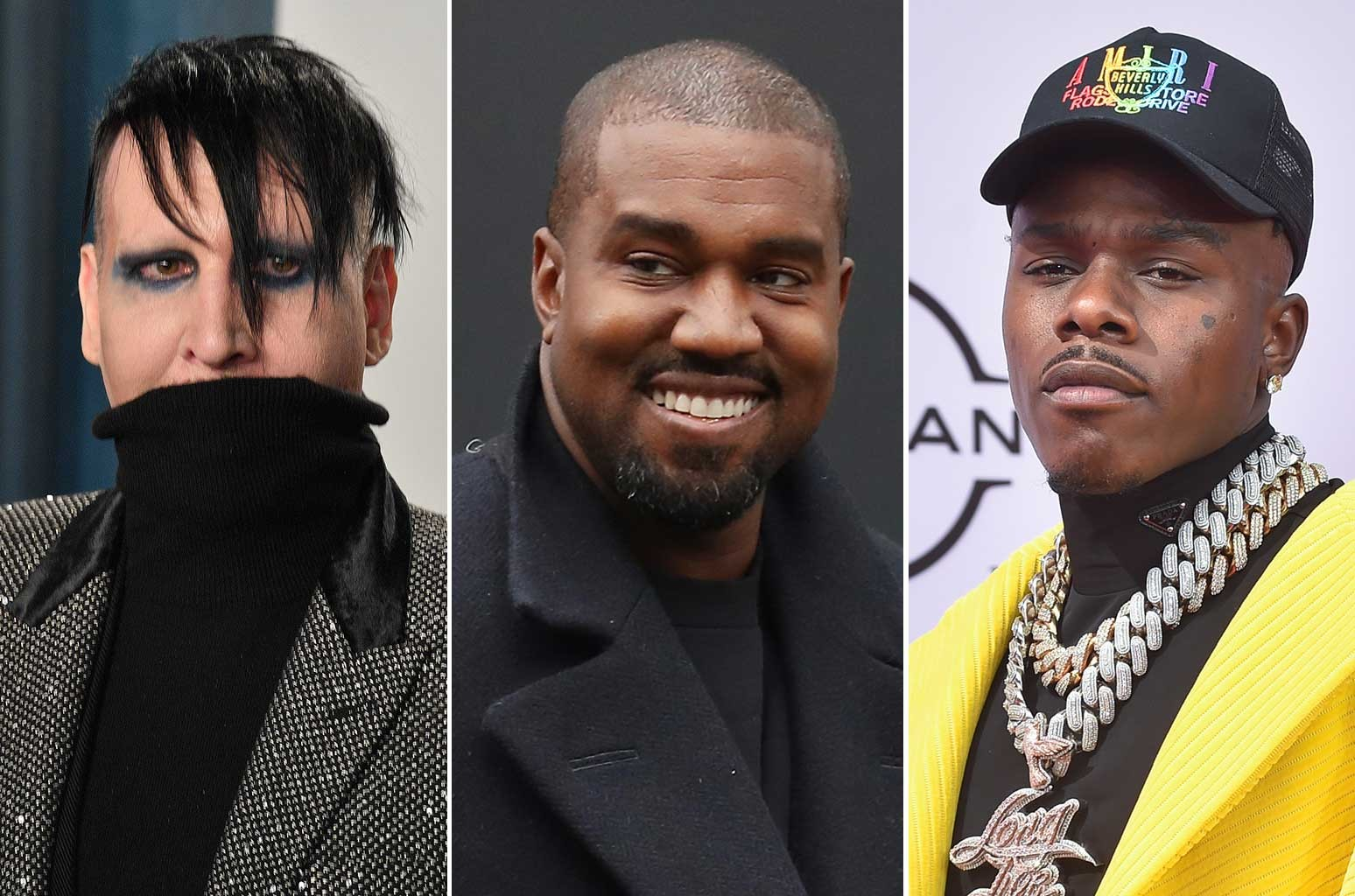 Marilyn Manson, Kanye West and DaBaby