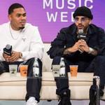 Myke Towers & Rauw Alejandro Talk Humble Beginnings at 'Mano a Mano' Panel During Latin Music Week thumbnail