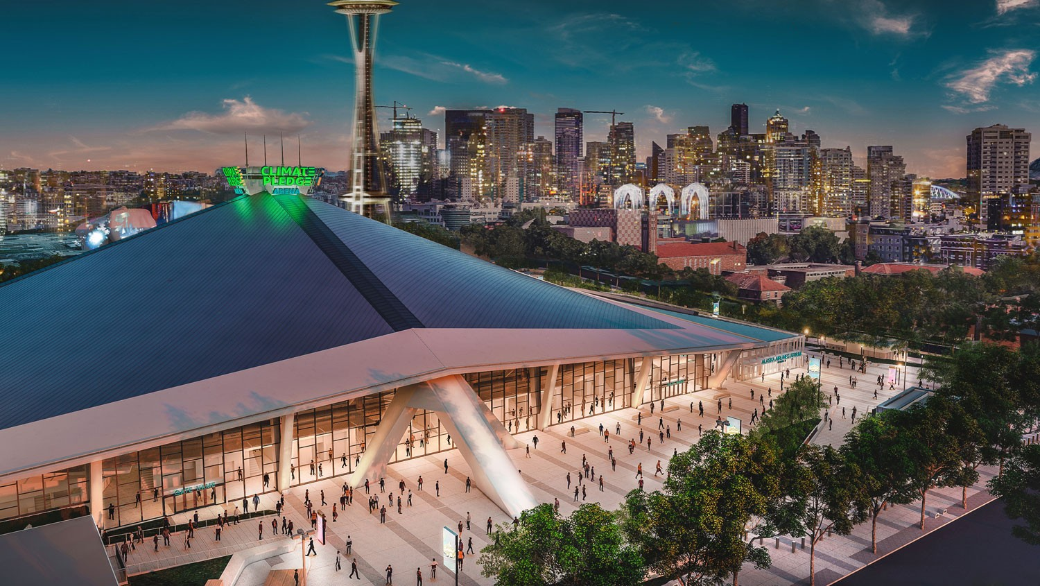 rendering of Climate Pledge Arena