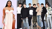 BTS and Megan Thee Stallion Finally Meet Up in NYC: See the Photo | Billboard News
