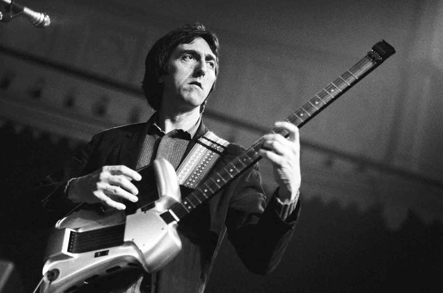 Allan Holdsworth performs live on stage at the Paradiso in Amsterdam, Netherlands on June 15, 1987.