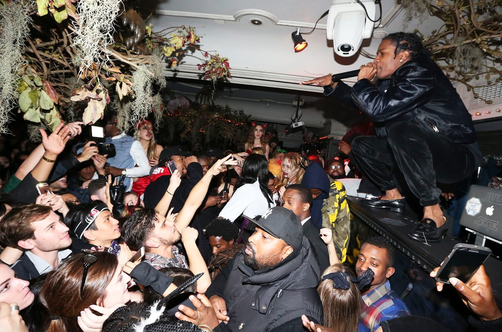 A$AP Rocky performs at Up&Down for A$AP Mob's album launch party on Oct. 31, 2016.