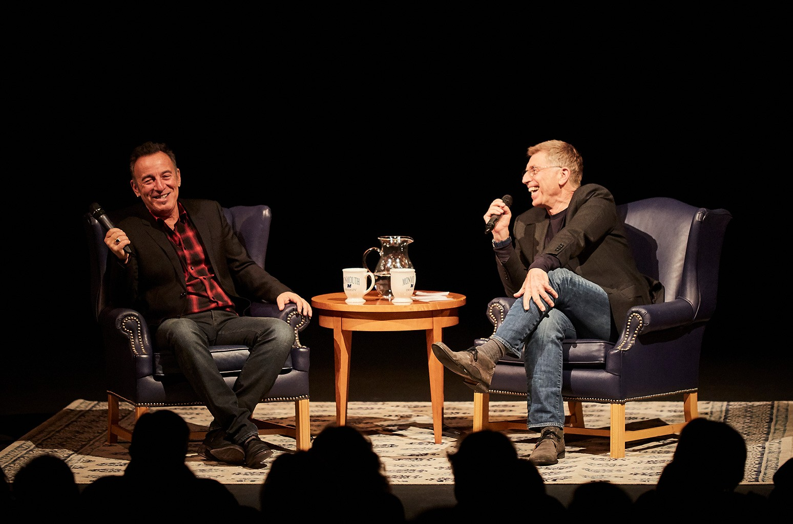 Bruce Springsteen in conversation with Bob Santelli, Executive Director of the Grammy Museum at Monmouth University's Pollak Theatre.