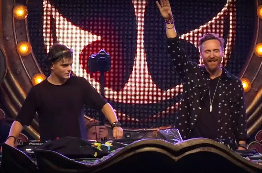David Guetta and Martin Garrix perform during Tomorrowland 2017.