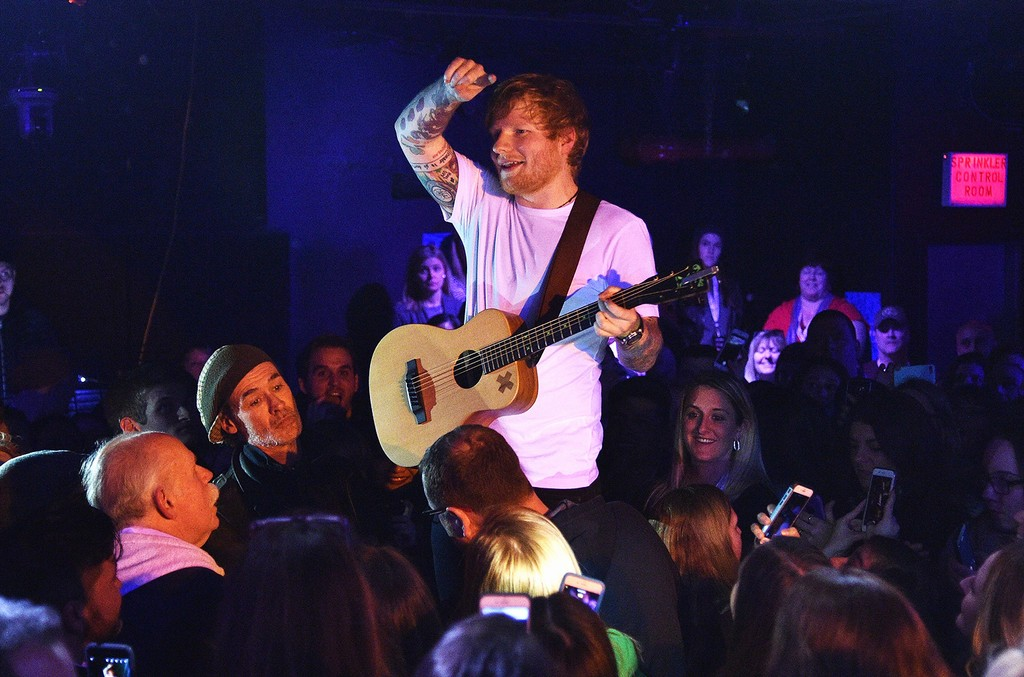 Ed Sheeran performing at Webster Hall on March 6, 2017 in New York City.