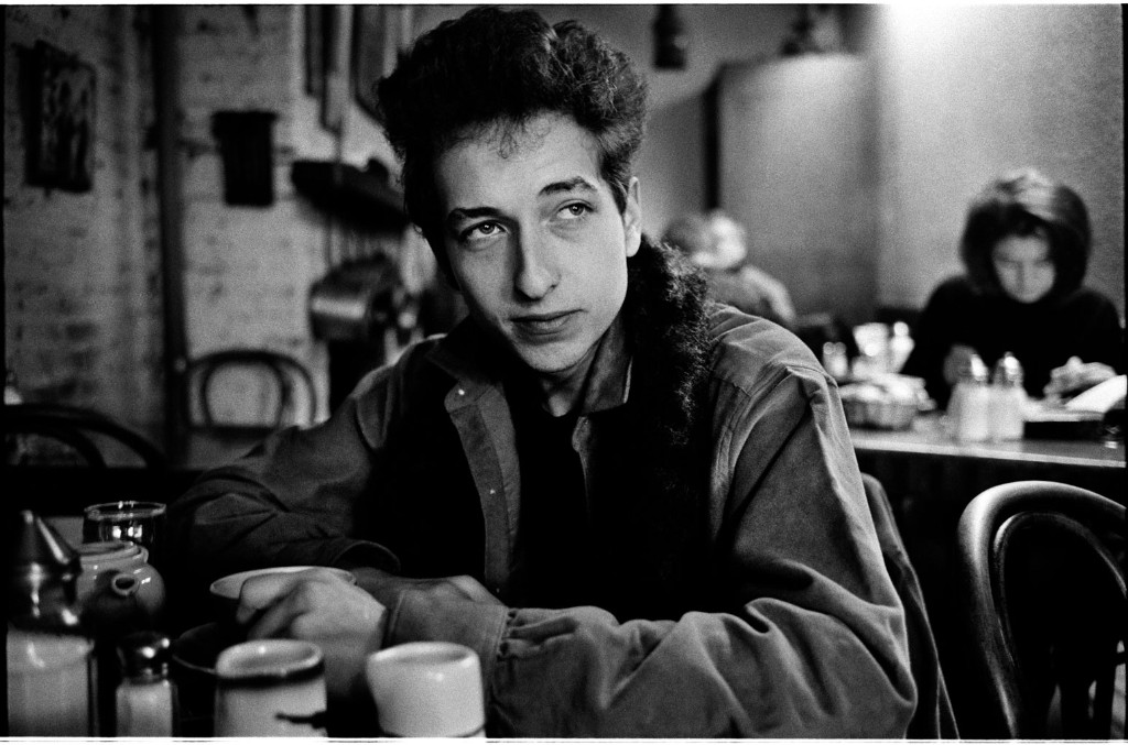 Bob Dylan in a Greenwich Village café, New York City, 1963