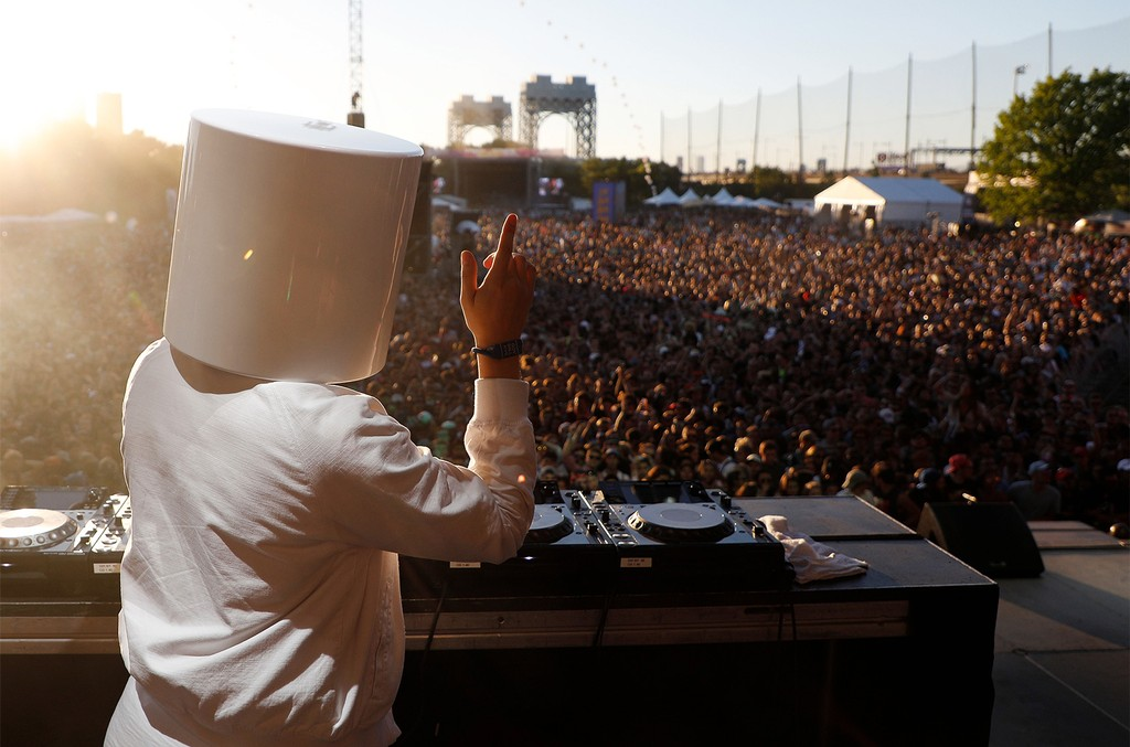 Marshmello performs live onstage during 2017 Governors Ball Music Festival - Day 2 at Randall's Island on June 3, 2017 in New York City.
