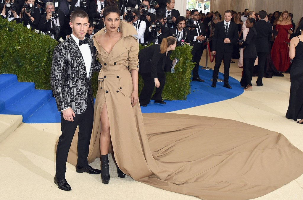 "Nick Jonas and Priyanka Chopra attend the ""Rei Kawakubo/Comme des Garcons: Art Of The In-Between"" Costume Institute Gala at Metropolitan Museum of Art on May 1, 2017 in New York City."
