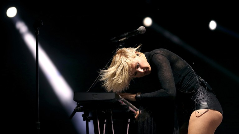 <p>Phantogram performs on the Outdoor Stage during day 1 of the 2017 Coachella Valley Music &amp&#x3B; Arts Festival (Weekend 2) at the Empire Polo Club on April 21, 2017 in Indio, Calif.&nbsp&#x3B;</p>
