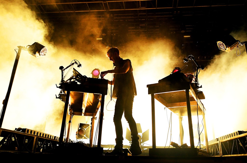 DJ Richie Hawtin performs at the Mojave stage during day 1 of the Coachella Valley Music And Arts Festival (Weekend 1) at the Empire Polo Club on April 14, 2017 in Indio, Calif.