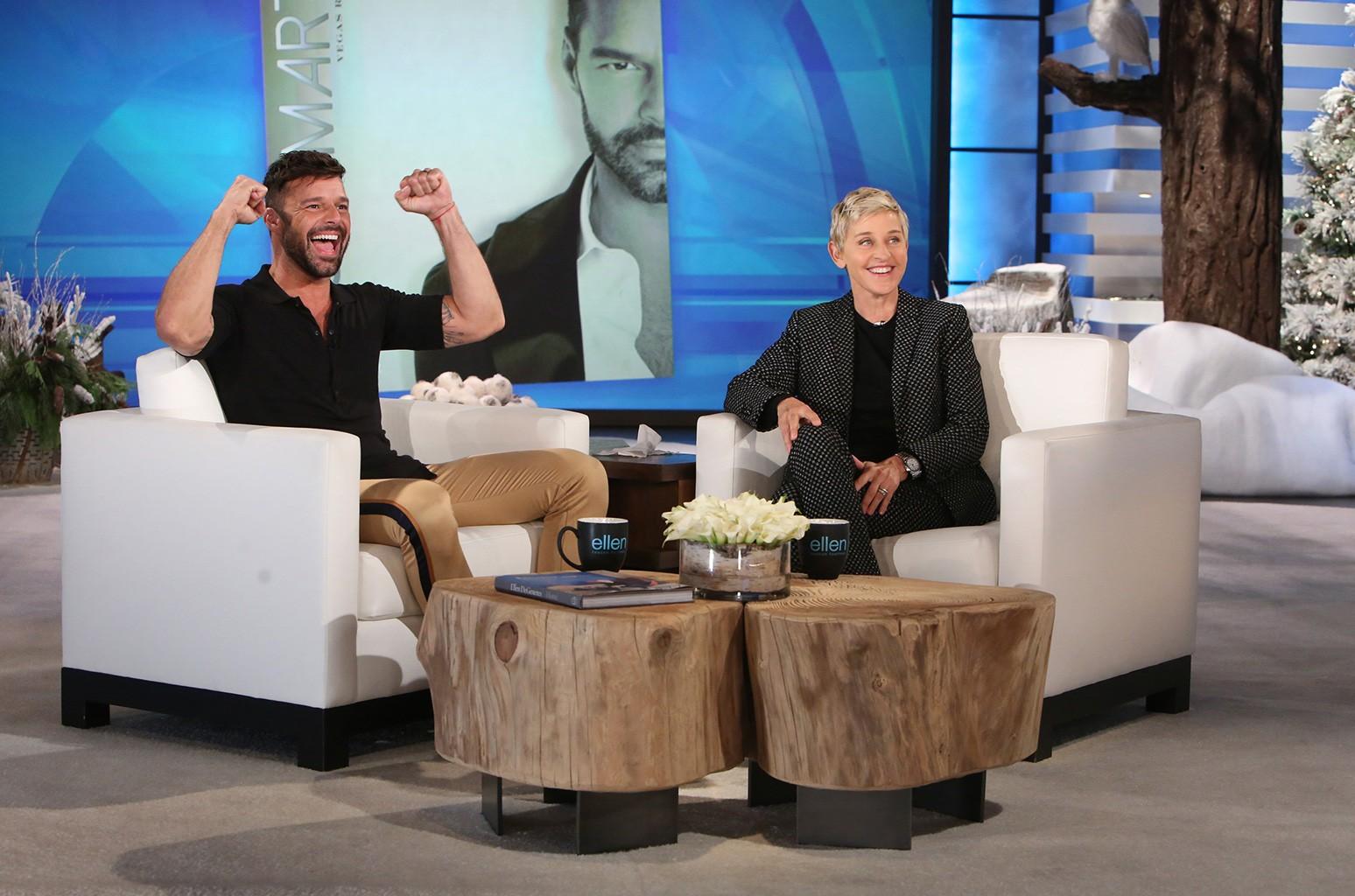 Ricky Martin on The Ellen DeGeneres Show on Nov. 16, 2016.