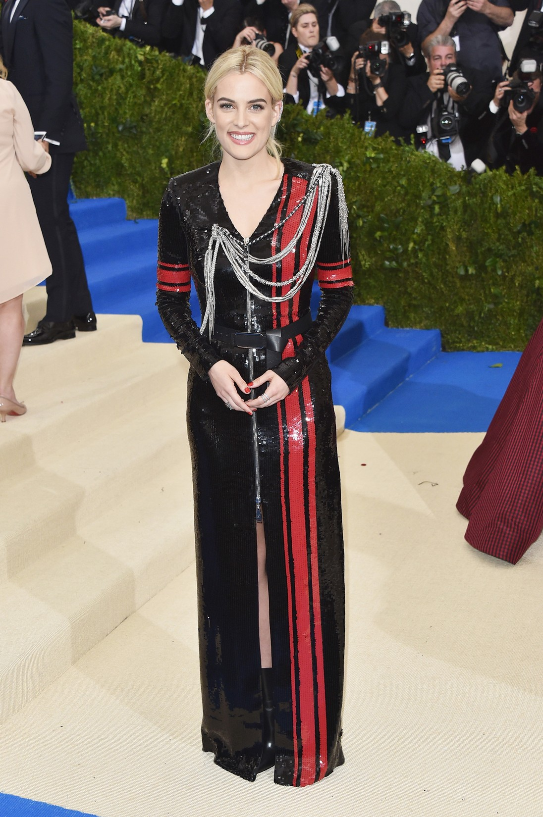 """Riley Keough attends the """"Rei Kawakubo/Comme des Garcons: Art Of The In-Between"""" Costume Institute Gala at Metropolitan Museum of Art on May 1, 2017 in New York City."""