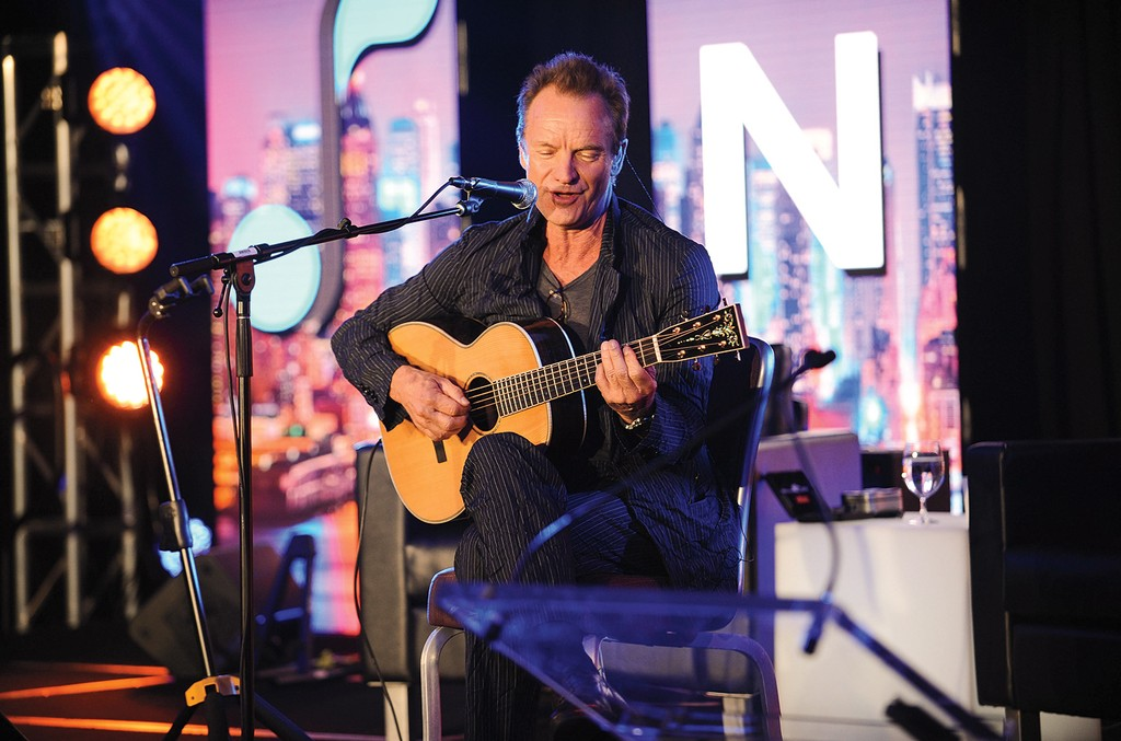 Sting played the NMPA's 2016 annual meeting.