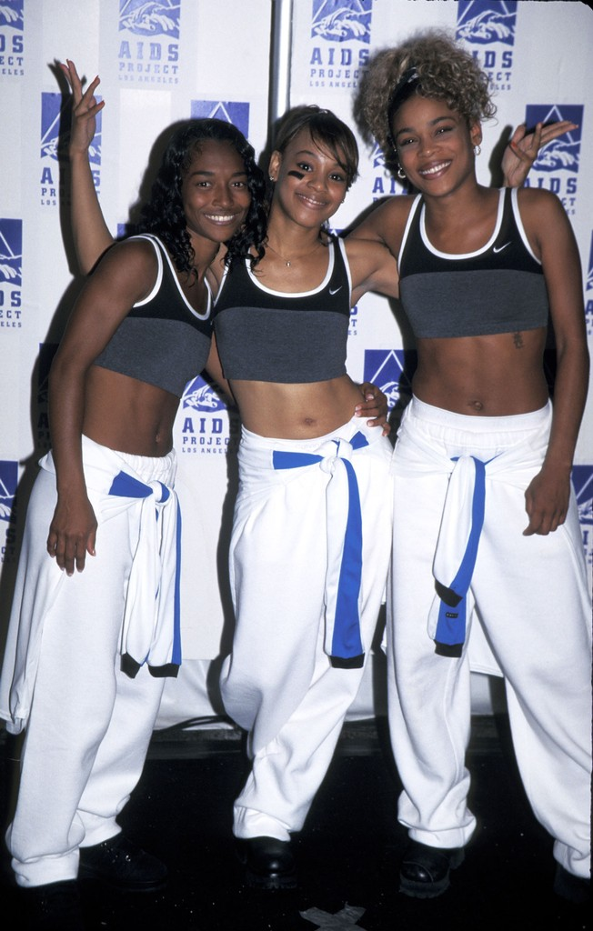 """Chilli, Lisa """"Left Eye"""" Lopes and T-Boz of TLC during APLA """"Commitment To Life"""" Benefit on July 18, 1996 at Universal Ampitheater in Universal City, Calif."""