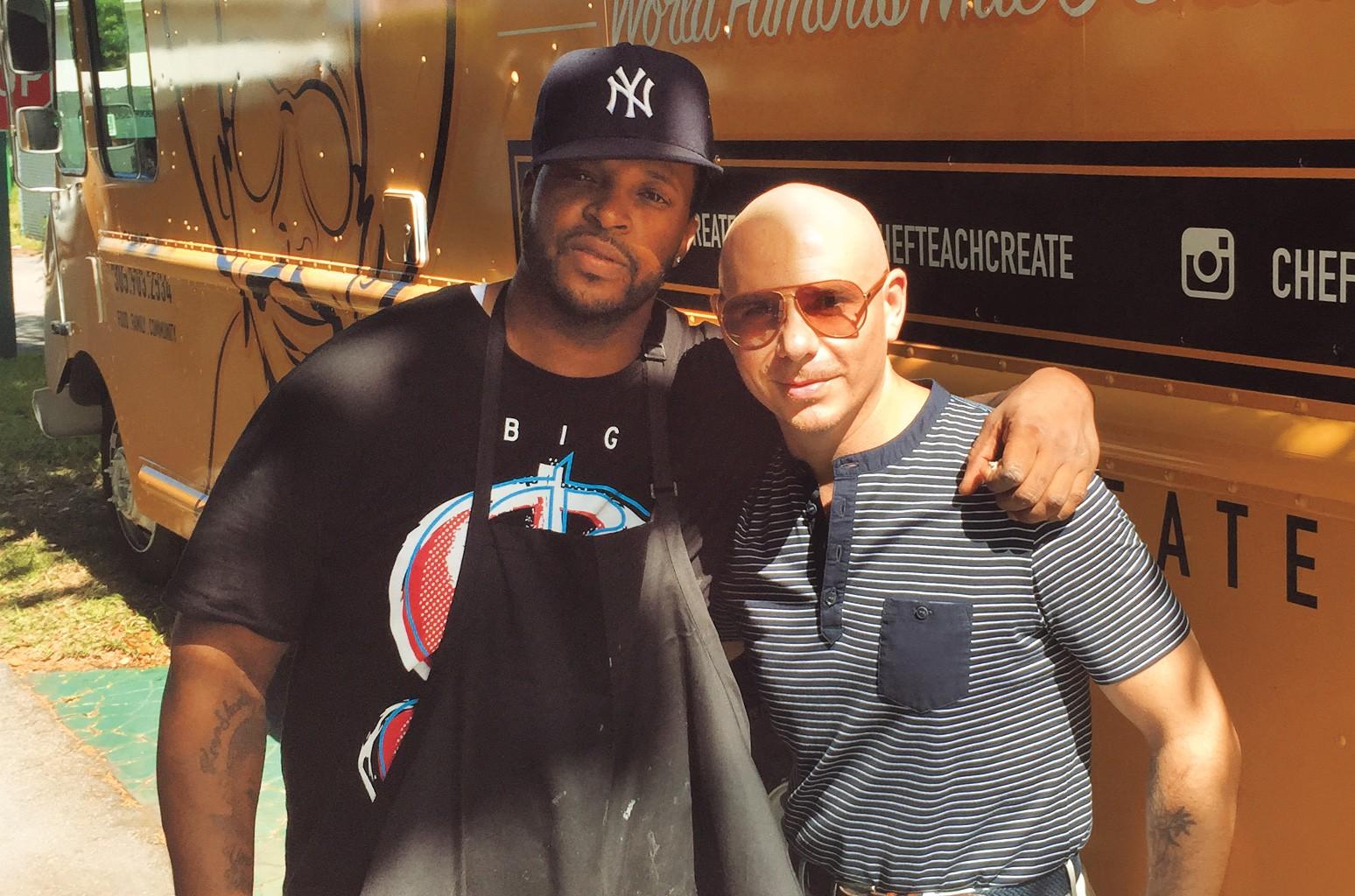Turton (left) and Pitbull